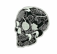 Patch biker skull motorcycle embroidery  iron on chopper