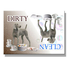 WEIMARANER Clean Dirty DISHWASHER MAGNET New DOG