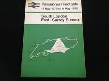 OLD VINTAGE 1979 SOUTH LONDON RAILWAY PASSENGER TIMETABLE
