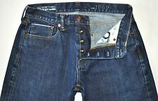 Gap 1969 Men's Dk Blue SELVAGE Denim Loose Straight Leg Jeans 30 X 30 AWESOME