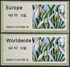 WINCOR TII SPRING BLOOMS FLOWERS EUR & WW 60g RATES FS98 + FS102 PAIR POST & GO