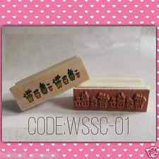 Stamp/Wooden Stamp/Wood Mounted Rubber Stamp [Code: WSSC-01]