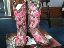 "Womens lagrange western boots ""Wings of Hope"" size 7"