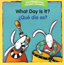 Qué Día Es? by American Heritage Dictionary Editors (2005, Board Book)