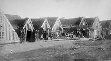 Old Icelandic Houses Iceland 1881, 7x4 Inch Reprint Photo nbl