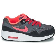 NIKE AIR MAX 1 (GS) DARK GREY/HOT LAVA-GYM RED-BLK 555766 044 Size 6.5Y RTL $85