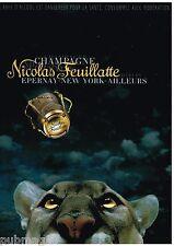 Publicité Advertising 2000 Champagne Nicolas Feuillatte