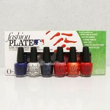 OPI MLB FASHION PLATE Mini Hitters 6pk Pack Collection 6pc Kit Set DDBB2