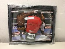 Anthony Joshua Boxing world champion signed boxing glove in dome frame COA AFTAL