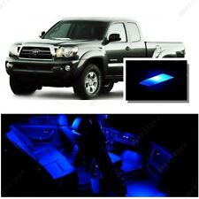 For Toyota Tacoma 2016 UP Blue LED Interior Kit + Blue License Light LED