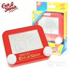 New Red Etch A Sketch Pocket Classic Magic Screen Drawing Creative Official