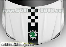BS1608 Skoda bonnet racing stripes graphics stickers decals Fabia Octavia