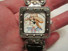 BARRY KIESELSTEIN CORD STERLING SILVER NATIONAL COWGIRL MUSEUM WATCH
