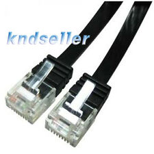 20m 60ft CAT6 Flat Ethernet Network Cable UTP LAN Patch CAT 6 1GBase-T RJ45 A