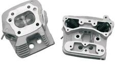S S Cycle Silver Cylinder Heads for Evolution EVO w/ Stock Style Pistons 84-99