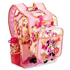 Disney Minnie Mouse Clubhouse Back Pack & Lunch Box Tote NEW! FREE SHIPPING!
