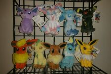 Set of 9 Pokemon Evolution of Eevee Plush doll Toy Eeveelution official license