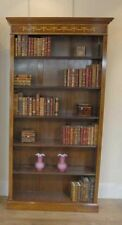Regency Sheraton Open Bookcase Walnut Bookcases Open Front
