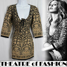 KATE MOSS TOPSHOP INDIAN DRESS 10 38  6 VINTAGE 70s BOHO HIPPIE FESTIVAL 60s