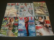 2001 VOGUE MAGAZINE LOT OF 12 COMPLETE YEAR - FASHION COVERS + ADS - O 929