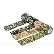 Camouflage Camo Wrap Sticky Tape Adhesive Tape For Hiking Hunting Camping Tool