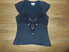 KAREN MILLEN BLACK SLEEVELESS TOP SIZE 8
