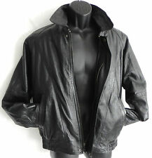 Lucky Leather Co. Bomber Jacket Size S Black Removable Liner Full Zip