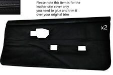 BLACK STITCH 2X FRONT FULL DOOR CARDS LEATHER COVERS FITS PONTIAC FIREBIRD 90-92