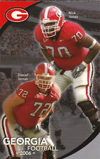 2006 UNIVERSITY OF GEORGIA BULLDOGS FOOTBALL POCKET SCHEDULE