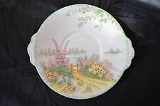 "Art Deco Bone China Snack Plate By C.W.S. Windsor ""TRYST Pattern"" Snack Plate"
