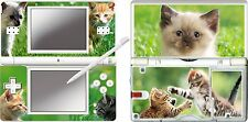 nintendo DS Lite - CUTE KITTEN - 4 Piece Decal Sticker Skin vinyl