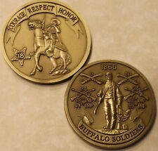 Buffalo Soldier Cavalry Infantry Army Challenge Coin CS