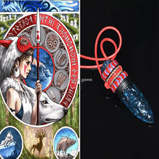 US SHIP! Anime Princess Mononoke Hime Amulet Wolf Fangs Necklace Cosplay Pendant