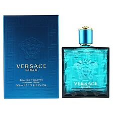 VERSACE EROS BY VERSACE 1.7 EDT SPRAY *MEN'S COLOGNE* NEW IN SEALED BOX* PERFUME