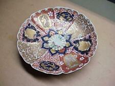#15 ANTIQUE CHINESE ASIAN ENAMEL GOLD BUTTERFLY BOWL SIGNED CABINET PLATE