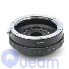 Adjust Aperture Adapter Canon EOS EF Lens to Nikon 1 Camera For AW1 S1 J3 J2 V2