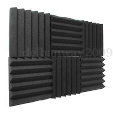 30x Acoustic Foam Soundproof Wedge Tiles Panels Studio Sound Room Treatment
