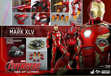 Hot Toys Iron Man Mark XLV 45 Diecast 1/6 Scale Figure Avengers Ultron Stark New
