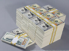 PROP MONEY New Style $100s $500,000 Blank Filler Bundles For Movie, TV, Videos