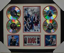 AC DC 4CD SIGNED FRAMED MEMORABILIA LIMITED EDITION