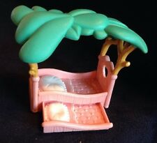 Vintage Fisher Price Play Pretend  Hideaway Hollow Bunny TRUNDLE BED Doll House