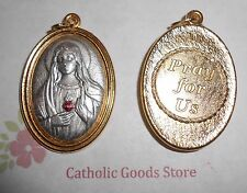 Immaculate Heart of Mary - Pray for Us - Two Tone Italian 1 3/4 inch Medal