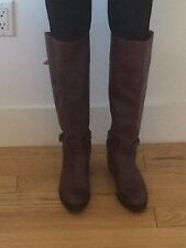 Women's Frye Leather Riding Boots Size 9 Brown Cognac