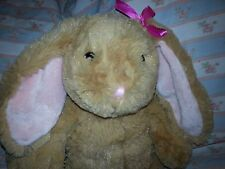 Build-a-Bear plush Bunny Cottontail Rabbit brown w/ pink bow stuffed animal toy