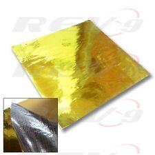"""1-Sheet 20""""x20"""" Rev9 Metallic Heat Block Reflector Reflective Barrier Tape Gold"""