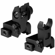 Green Blob Outdoors Iron Flip Up Front Rear Sights Set Picatinny Rail Flattop A2