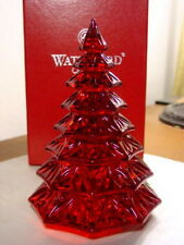 Waterford Crystal Red CHRISTMAS TREE SCULPTURE - NEW!