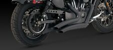 VANCE & HINES BIG RADIUS 2 INTO 2 BLACK CURVED EXHAUST HARLEY SPORTSTER 04-13