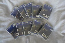 Sony PDP 35C Professional DAT Cassettes Box of 10 NEW Digital Audio Tapes