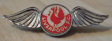 LIVERPOOL Vintage 1970s 80s insert type badge Brooch pin In chrome 53mm x 16mm